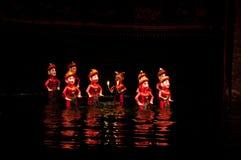 Wodny kukiełkowy przedstawienie w Hanoi Wietnam zdjęcia royalty free