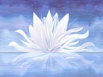 wodny leluja biel ilustracja wektor