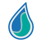 Wodny logo ikony projekt Zdjęcie Stock