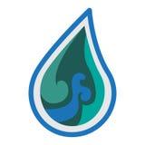 Wodny logo ikony projekt Obraz Stock