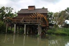 Wodny młyn w Jelka, na Małej Danube rzece Zdjęcie Royalty Free