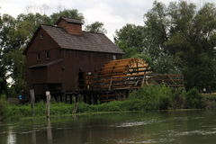 Wodny młyn w Jelka, na Małej Danube rzece Obraz Royalty Free