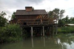 Wodny młyn w Jelka, na Małej Danube rzece Fotografia Royalty Free