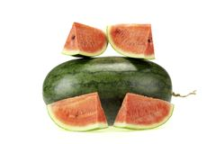Wodny melon na białym tle Zdjęcia Royalty Free