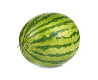 Wodny melon na białym tle fotografia royalty free
