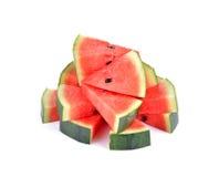 Wodny melon pokrajać na białym tle Zdjęcie Royalty Free