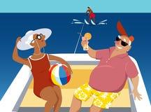 Wodny narciarstwo royalty ilustracja