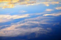 Wodny odbicie niebo Zdjęcie Royalty Free
