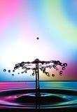 Wodny opadowy karambol zdjęcie stock