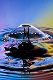 Wodny opadowy karambol Obrazy Royalty Free