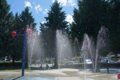 Wodny park jest otwartym lata sezonem obraz royalty free