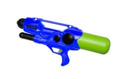 Wodny pistolet na bielu Zdjęcia Royalty Free
