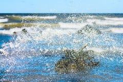 Wodny pluśnięcie skutek Obraz Royalty Free