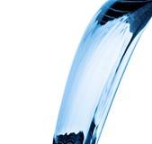 Wodny pluśnięcie, tryska odosobnionego na bielu Fotografia Stock