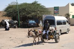 Wodny przewoźnik na ulicznym Hargeisa. Obraz Royalty Free