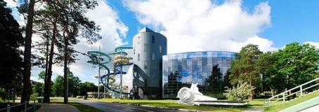 Wodny przyciąganie park w Druskininkai zdroju mieście zdjęcia royalty free