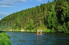 Wodny sportowa ruch na rzece zdjęcie royalty free