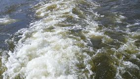 Wodny strumień od śmigła zdjęcie wideo
