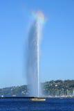 Wodny strumień jeziorny Leman przy Genewa Zdjęcia Royalty Free