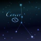 Wodny symbol nowotworu zodiaka znak, horoskop, wektorowa sztuka i ilustracja, Obraz Stock