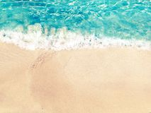 Wodny tekstura piaska plaży wakacje letni tło Obraz Royalty Free