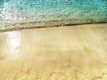 Wodny tekstura piaska plaży wakacje letni tło zdjęcia royalty free