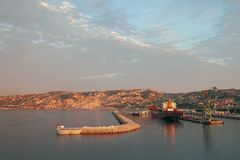 Wodny teren ładunku port france Marseille obraz royalty free