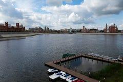 Wodny teren Kokshaga rzeka Zdjęcie Stock
