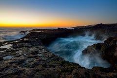 Wodny vortex, Bufadero De Los angeles Garita, Telde, Gran Canaria, Hiszpania Obraz Royalty Free