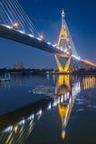 Wodny vortex pod przemysłu okręgu mostem Zdjęcie Royalty Free