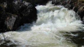 Wodny wirować przy dnem kaskada w skalistych górach zbiory wideo
