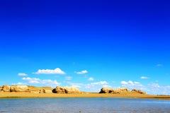 Wodny Yardang Czarci miasto światowy ` s yardang unikalny wodny landform Zdjęcie Royalty Free