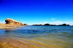 Wodny Yardang Czarci miasto światowy ` s yardang unikalny wodny landform Obrazy Royalty Free