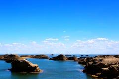 Wodny Yardang Czarci miasto światowy ` s yardang unikalny wodny landform Fotografia Stock