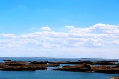Wodny Yardang Czarci miasto światowy ` s yardang unikalny wodny landform Fotografia Royalty Free