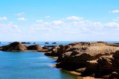 Wodny Yardang Czarci miasto światowy ` s yardang unikalny wodny landform Zdjęcia Royalty Free
