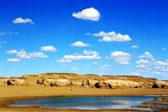 Wodny Yardang Czarci miasto światowy ` s yardang unikalny wodny landform Obrazy Stock
