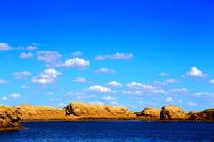 Wodny Yardang Czarci miasto światowy ` s yardang unikalny wodny landform Zdjęcia Stock