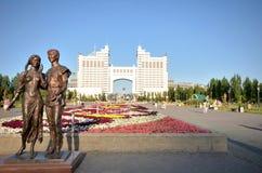Wodny Zielony bulwar w Astana kazakhstan Obraz Royalty Free