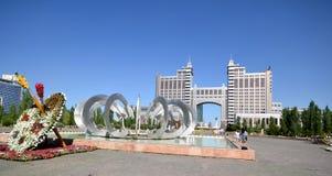 Wodny Zielony bulwar w Astana kazakhstan Fotografia Royalty Free