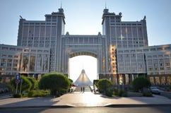 Wodny Zielony bulwar w Astana kazakhstan Zdjęcia Royalty Free