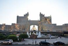 Wodny Zielony bulwar w Astana kazakhstan Zdjęcie Royalty Free