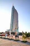 Wodny Zielony bulwar w Astana kazakhstan Obraz Stock