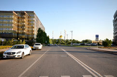 Wodny Zielony bulwar w Astana kazakhstan Fotografia Stock