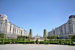 Wodny Zielony bulwar w Astana kazakhstan Obrazy Stock