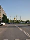 Wodny Zielony bulwar w Astana kazakhstan Obrazy Royalty Free