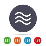 Wodnych fala szyldowa ikona Powódź symbol Fotografia Royalty Free