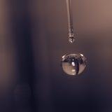 Wodnych kropelek spadek dno Zdjęcie Royalty Free