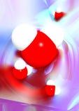 Wodnych molekuł Konceptualna 3D ilustracja zdjęcie royalty free