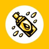 Wodoodporna kiści butelki ikona obrazy royalty free